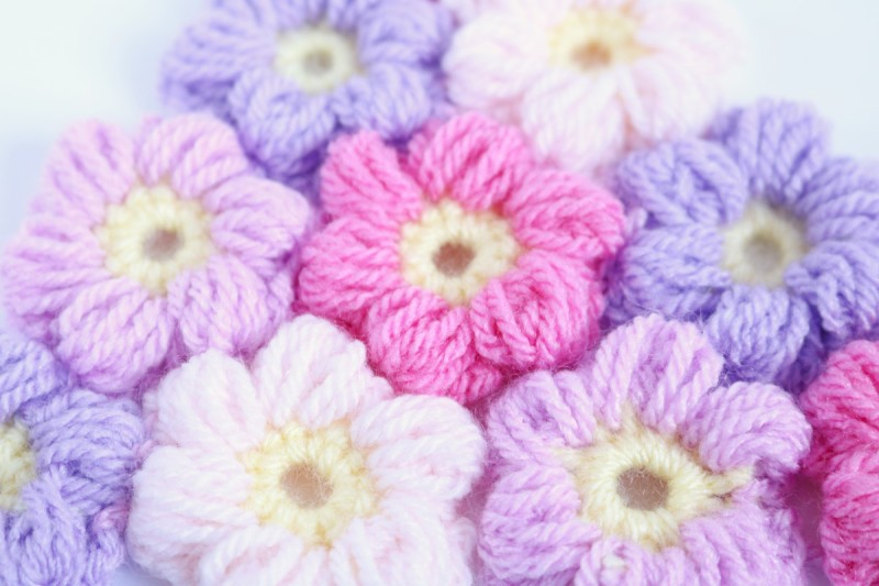 パターン編み・・・になるのかな。